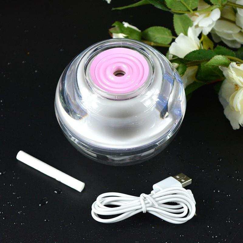 Hava Nemlendirici USB LED Kristal Gece Lambası-Karışık Renk