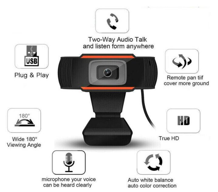 Hd Webcam Kamera 720p  Mikrofonlu Siyah Renk