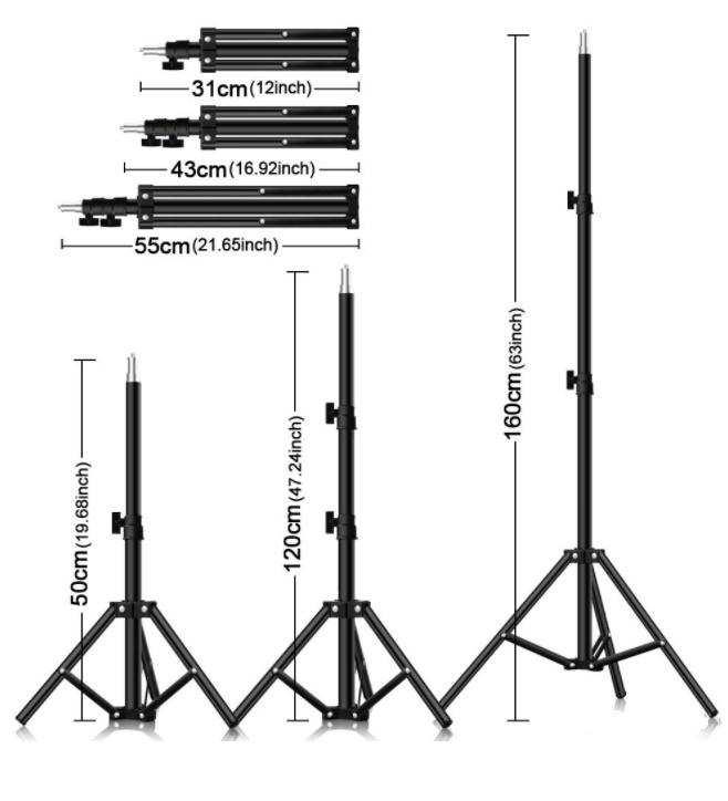 160 cm Canlı Yayın Video Telefon Tablet Tutucu  Tripod