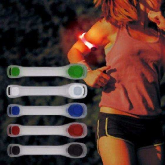Işıklı Flaşörlü Fosforlu Kola Takılabilen Emniyet Güvenlik Bandı-Kırmızı