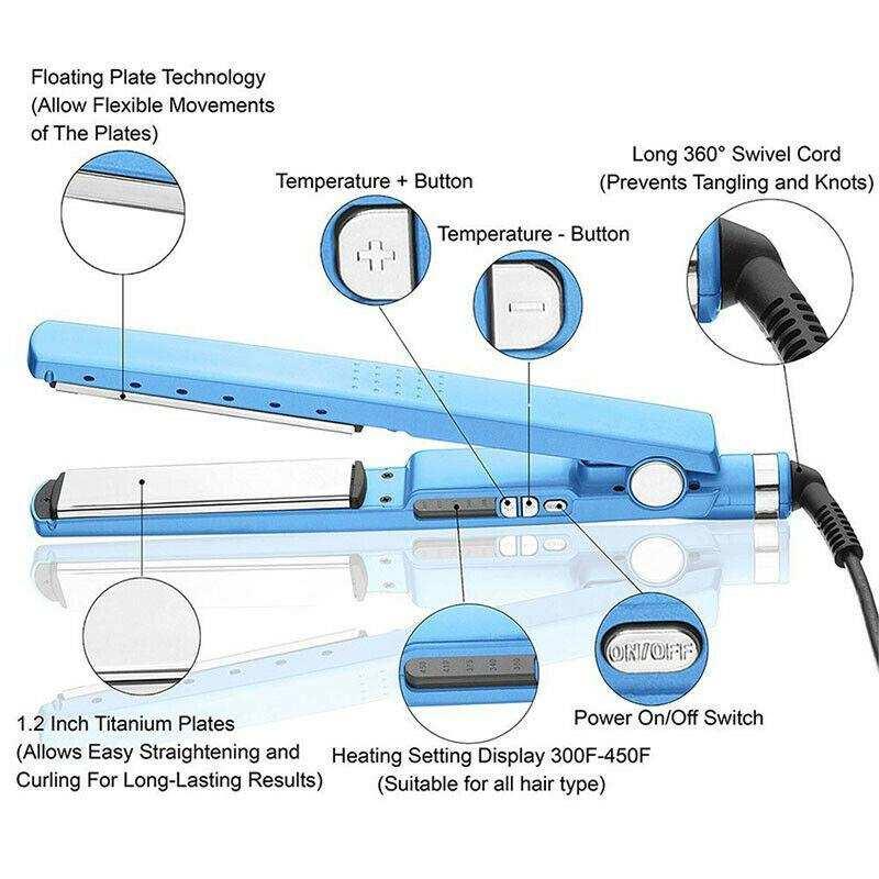 Profesyonel seramik kaplama buharlı saç düzleştirici