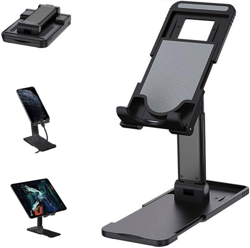 Evrensel  katlanır masaüstü  Cep Telefonu ve Tablet İçin Telefon Tutucu Stand -Siyah