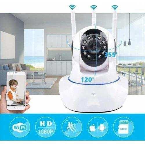 Ip-26 Camera Hareket Sensörlü Wireless 1080p Hd 3 Antenli Kablosuz Bebek Güvenlik Kamerası