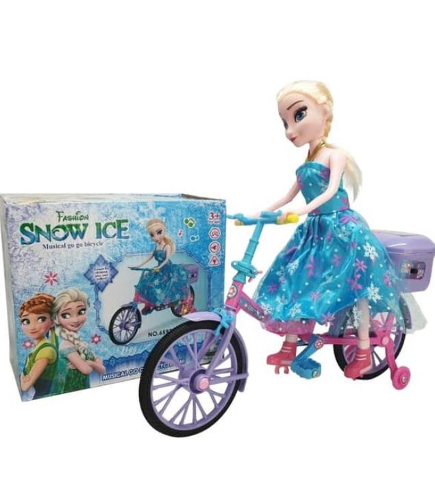 Snow Ice Müzikli Işıklı Çocuklar için Bisiklet Oyuncak
