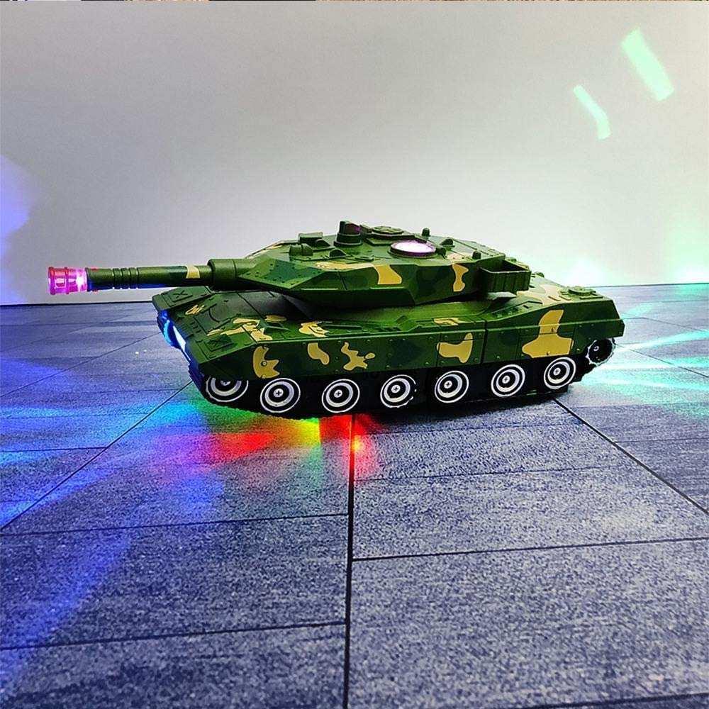 Işıklı ve Müzikli Oyuncak  Çocuklar için Otomatik Dönüşen Robot Tank Oyuncak