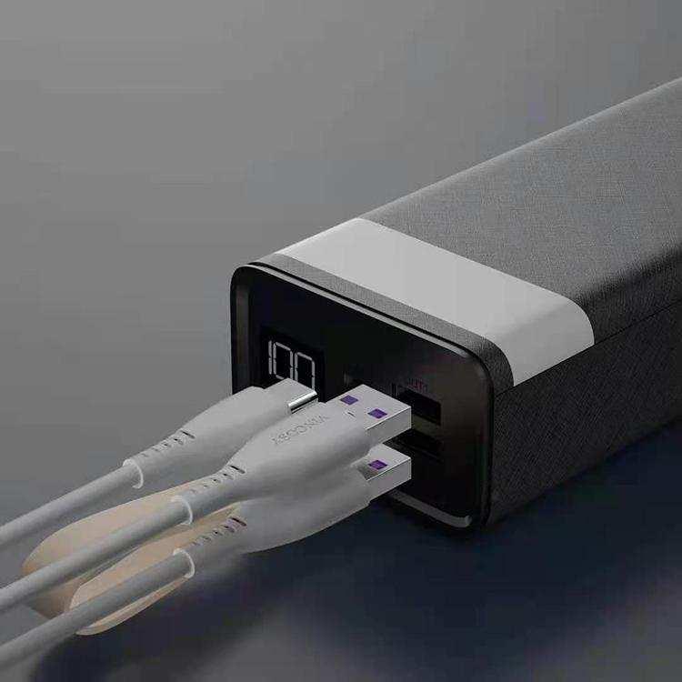 Fener Özellikli 30000 mah Digital Ekranlı Taşınabilir Şarj Powerbank